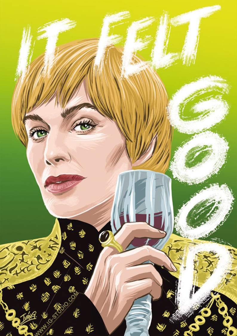 Cersei Lannister valyrian fire version signed prints © image 0