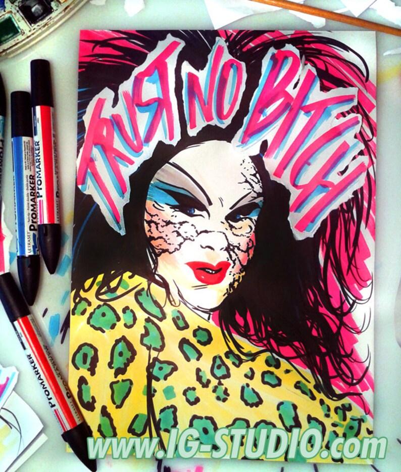 Trust no bitch N7  Divine as Dawn Davenport © Iván García image 0