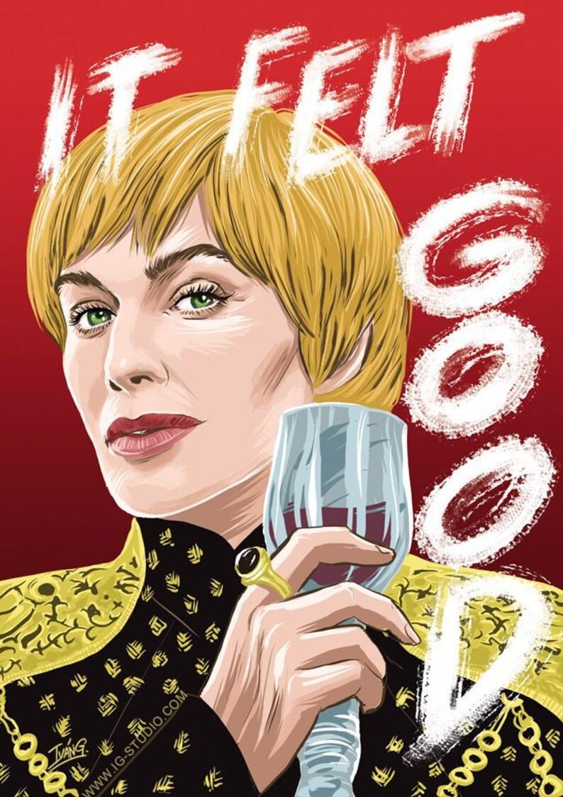 Cersei Lannister Lannister red version signed prints © image 0