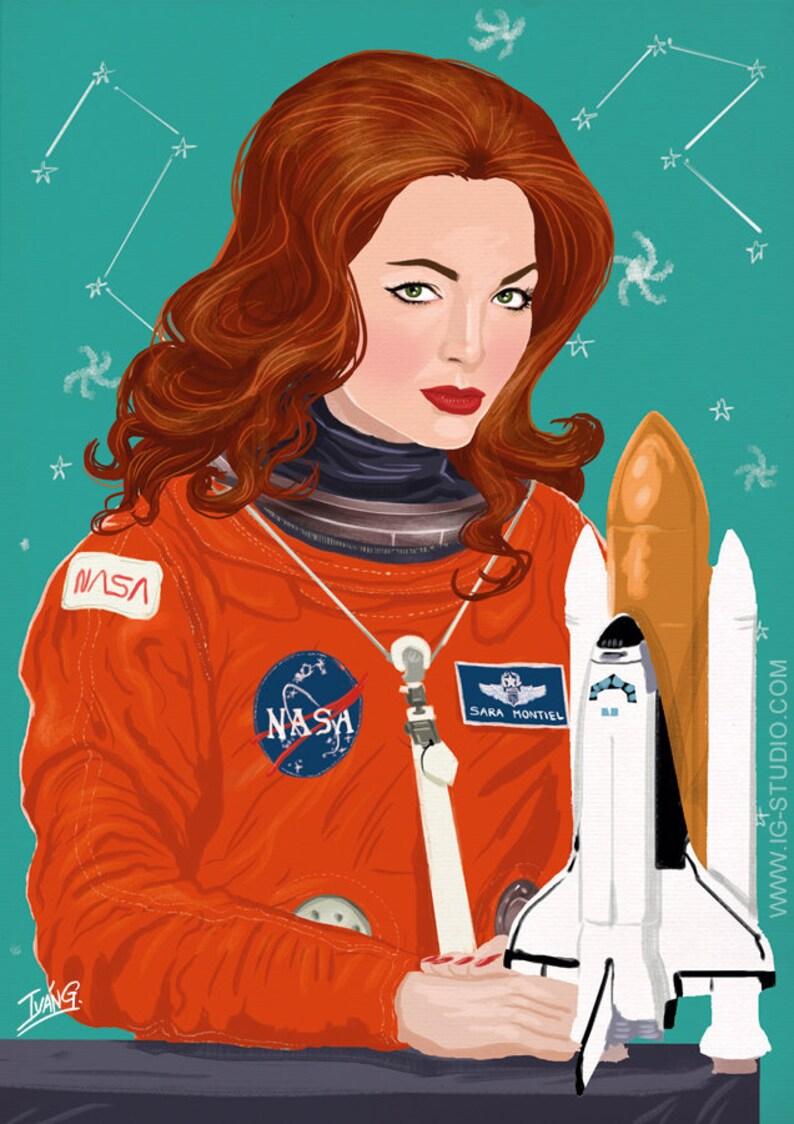 Sara Montiel en el espacio signed prints © Iván García. image 1