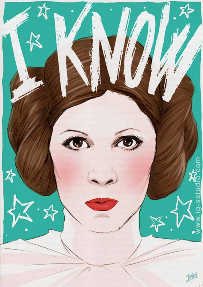 Princess Leia Knows signed prints © Iván García image 0
