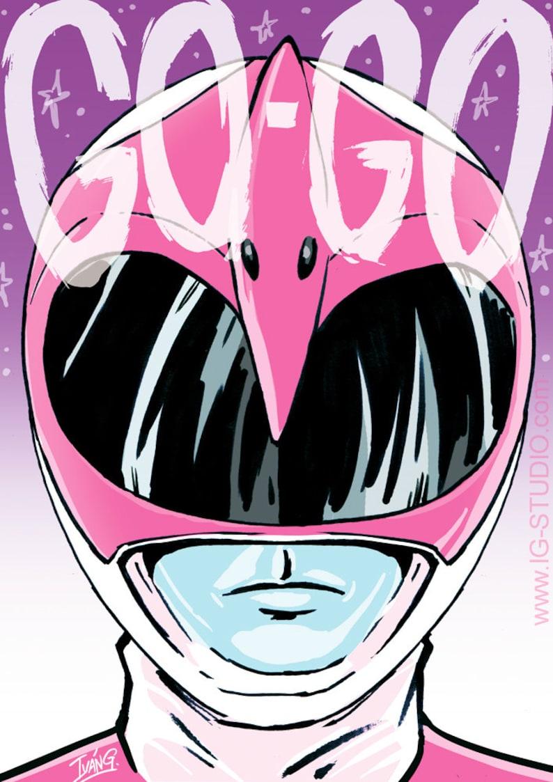 Pink Ranger says signed prints © Iván García. image 0