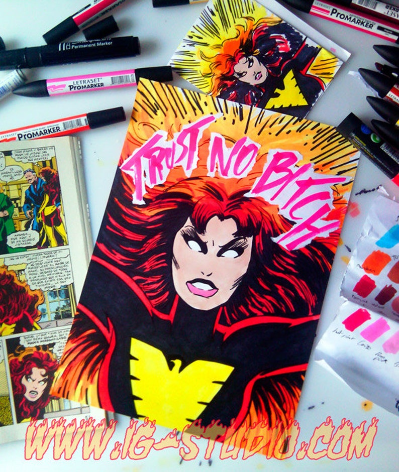 Trust no bitch N9  Jean Grey as Dark Phoenix © Iván García image 1