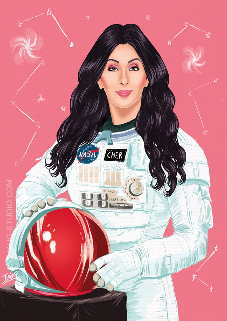 Cher in the space signed prints © Iván García. image 0