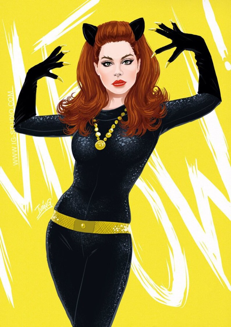 Lana del Rey as Julie Newmar's Catwoman signed prints © image 0