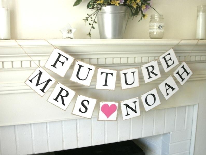 Bridal Shower Banner Wedding Shower Decor Future Mrs Banner Personalized Wedding Sign