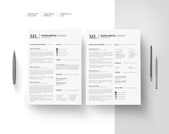 cv template for word cv design resume templates etsy