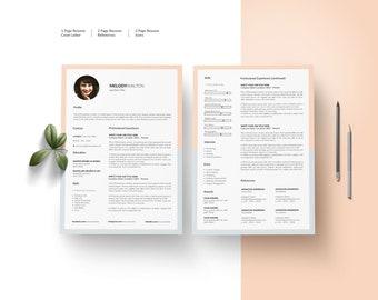 Resume Template Word Cv Design Resume Cv Template Resume Etsy