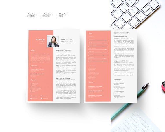 Resume With Photo Cv Design Resume Template Cv Template Resume Curriculum Vitae Resumes Cv Template Word Resume Template Word Cv