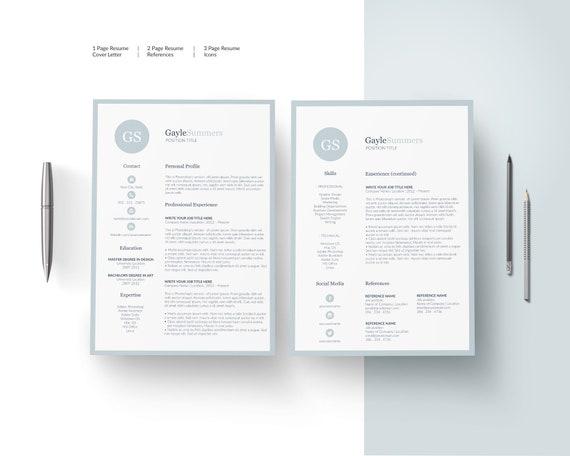 Clean Resume Cv Design Cv Template Resume Template Resume Etsy - Cv-clean-resume