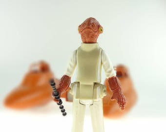 Star Wars Action Figure Admiral Ackbar With Staff 1982