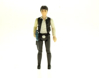 Han Solo Action Figure Large Head 1977 Star Wars A New Hope