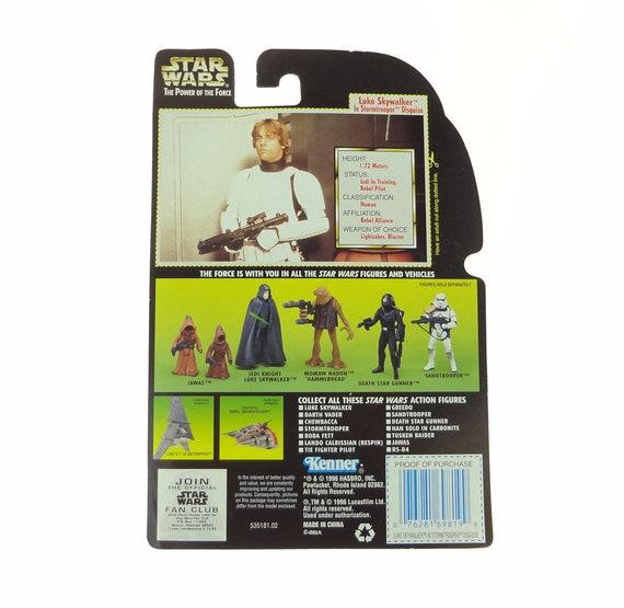 Star Wars 1996 Potf Vintage Style Luke Stormtrooper ~ Death Star Game Exclusive