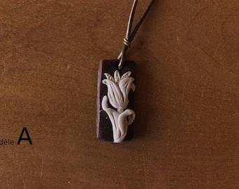 Flower Art Nouveau - Art Nouveau Necklace Flower pendant necklace