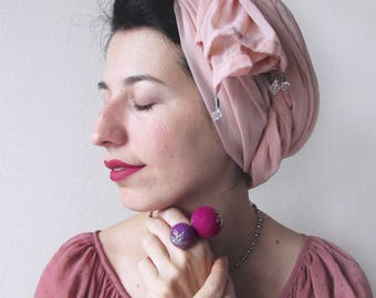 Statement ring Adjustable ring Funky jewelry Balls ring Colorful ring Wool jewelry Purple ring Felted ring Bright ring Fun ring for her gift