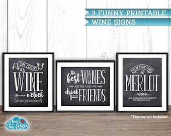 Funny Wine Signs Etsy