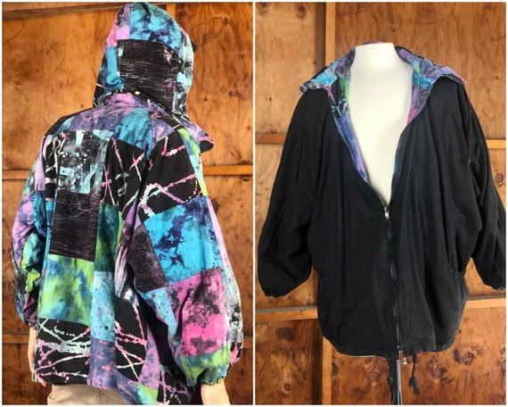 Vintage 90s Reversible Batik Jacket