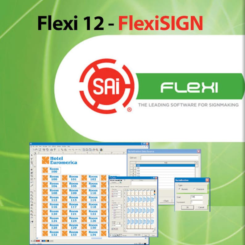 FLEXI 12 - FlexiSIGN Complete Software for Cutting Plotters (via Cloud Web  Window) Version 12 available now ***FREE Shipping***