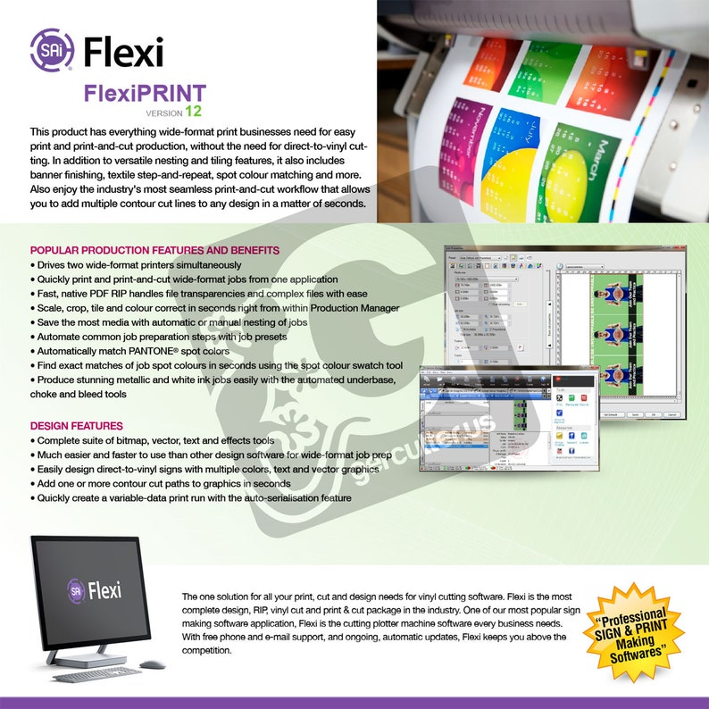 SAi® Flexi 12 Cloud Family SW (FlexiSIGN, FlexiPRINT, FlexiDESIGNER)  *Software Key
