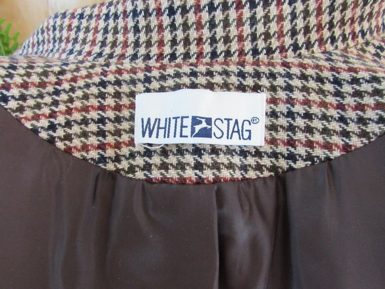 Classic White Stag Lined Blazer