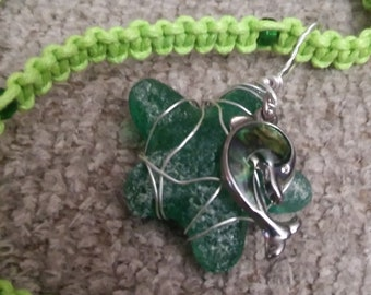 Glass Starfish w/ Dolphin Charm