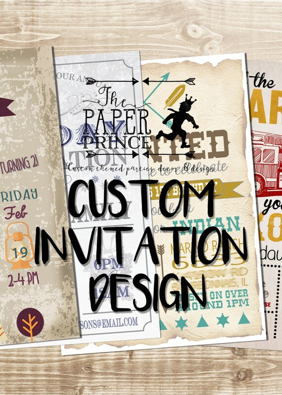 Custom Invitation Design Birthday Invite Announcement Etsy