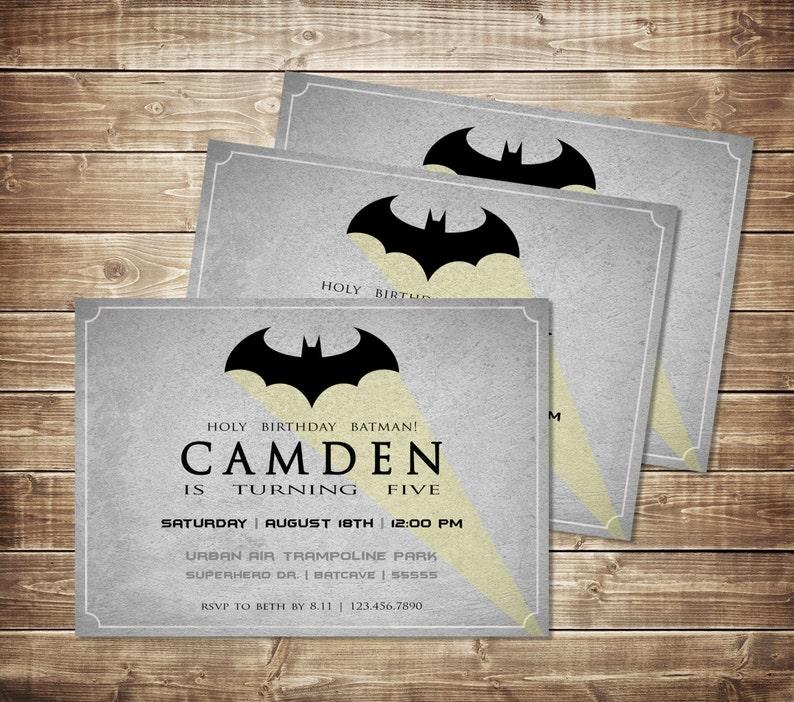 Batman Birthday Invitations Invite Dark Knight