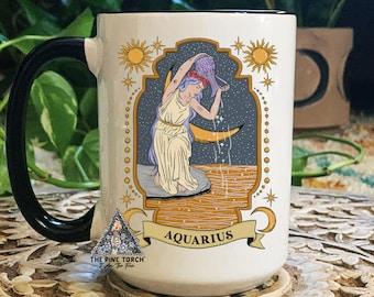 Aquarius Coffee Mug Etsy
