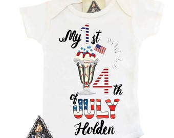 First Fourth of July Onesie®, Custom Fourth of July Onesie, Patriotic Onesie, Fourth of July Custom Outfit, Patriotic Baby, USA Baby