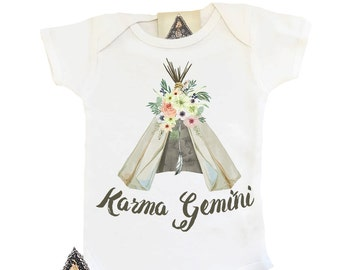 Custom Teepee Onesie®, Custom Boho Onesie, Teepee With Name Onesie, Custom Baby Gift, Custom Name Bodysuit, Boho Bodysuit Baby Girl