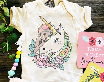Unicorn Bodysuit, Unicorn Baby, Unicorn Theme Shirt, Unicorn baby shirt, Girl and Unicorn Shirt, Mythical Shirt, Unicorn Birthday