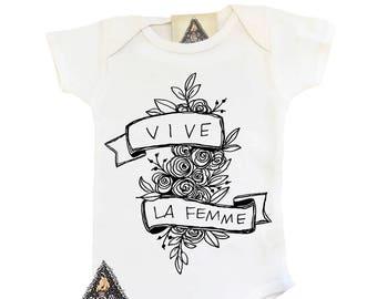Feminist Onesie®, Feminist Baby Onesie, Vive La Femme, Feminist Baby, Girl Power Onesie, Little Feminist, Baby Feminist