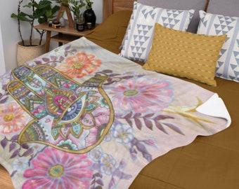 Bedspread Bed Throw Fatimas Hand Dekotuch Tapestry Batik Fatima Hamsa
