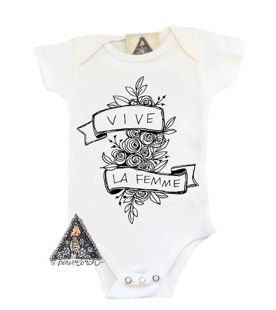 d268d1d12 Feminist Bodysuit Feminist Baby Bodysuit Vive La Femme