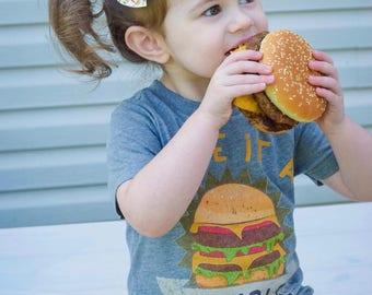 Bestseller: Cheeseburger Baby Shirt, Burger baby gift, Funny Burger Shirt, Burger Baby, Double Cheeseburger Shirt, Foodie baby gift