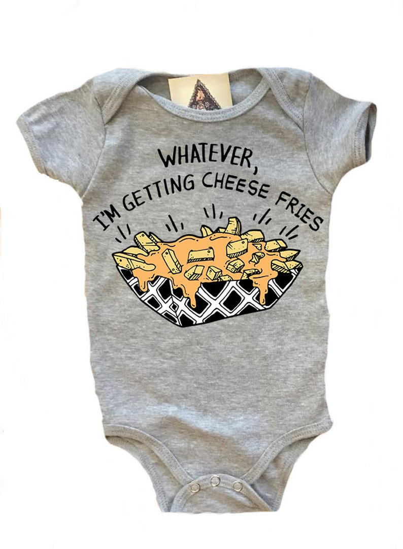 d880f509984d CHEESE FRIES baby bodysuit one piece baby shirt fries baby
