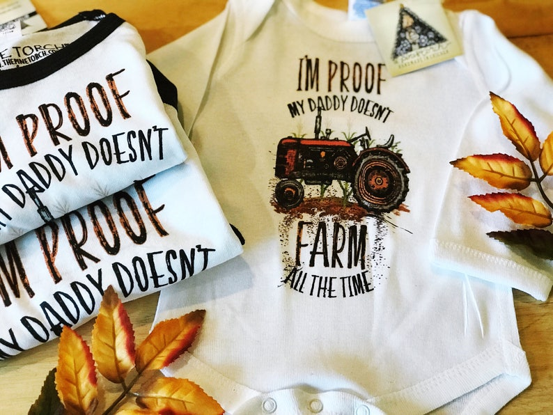 0623c4175 I'm PROOF Daddy Doesn't FARM all the Time farmer   Etsy