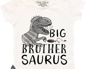 Big Brother Shirt, Dinosaur Shirt, T-Rex Shirt, Big Brother Saurus, Brother Saurus, Dinosaur matching shirts, Dinosaur Announcement