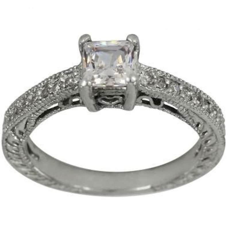 07111b316 Statement Ring Princess Cut Engagement Ring Vintage Ring | Etsy