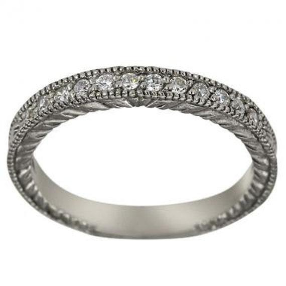 Victorian Style Ring Diamond Wedding Band Wedding Ring | Etsy