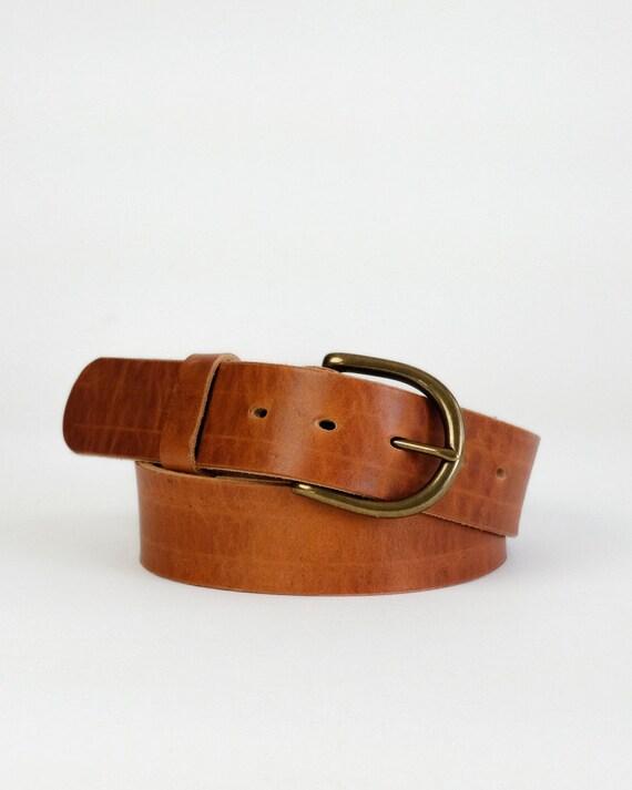 Horween English Tan Dublin leather Daniel belt
