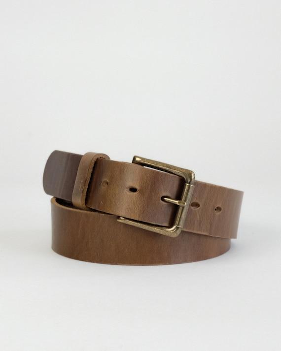 Horween Natural Chromexcel leather Daniel belt
