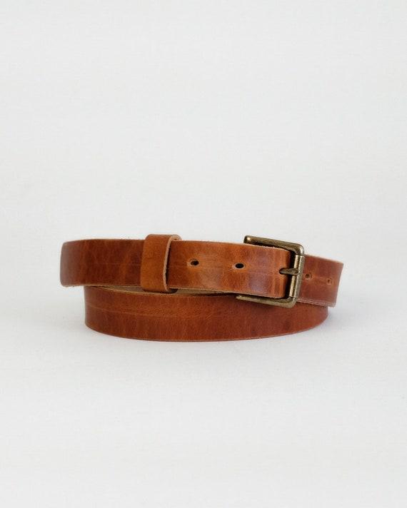 Horween English Tan Dublin leather Zach belt