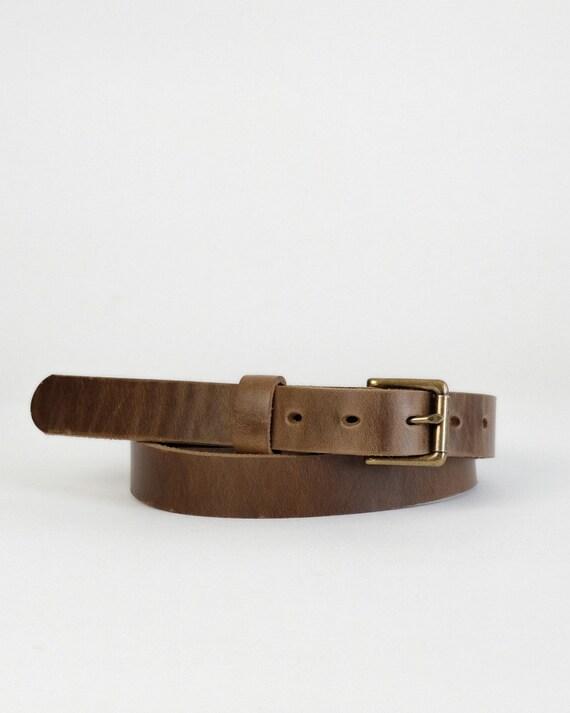 Horween Natural Chromexcel leather Zach belt