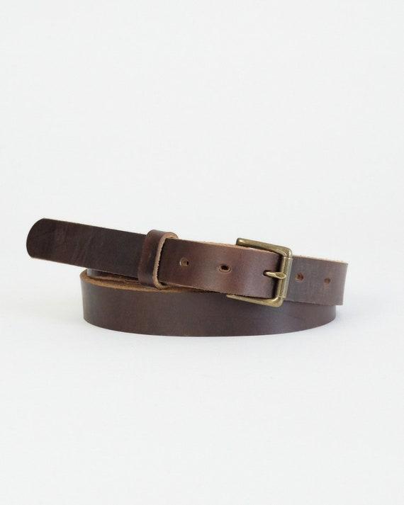 Horween Brown Chromexcel leather Zach belt
