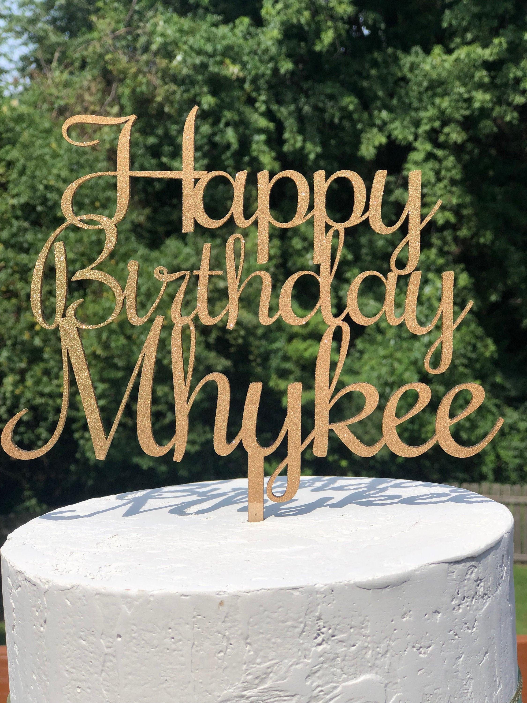 Modern Cake Decoration Wood Cake Topper Birthday Cake Topper 30th Birthday Cake Topper Birthday Cake Topper