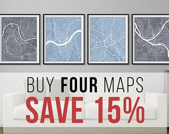 Buy 4 Get 15% off -- Any FOUR of the Same Size -- Multiple Prints Discount