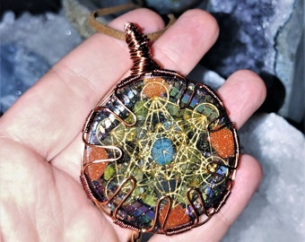 Silver Elephant Antennas For the Soul Chakra-Tuning Crystal Ormus Orgone Energy Unisex pendant necklace tray or keychain
