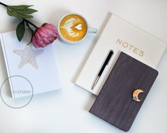 Download Free JOURNALS / Flat Lay Minimalist Styled Stock Photo / #26 PSD Template