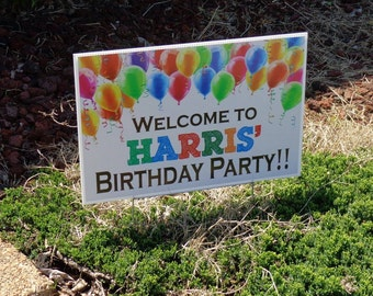 Welcome To Personalizeds Birthday Party Yard Sign